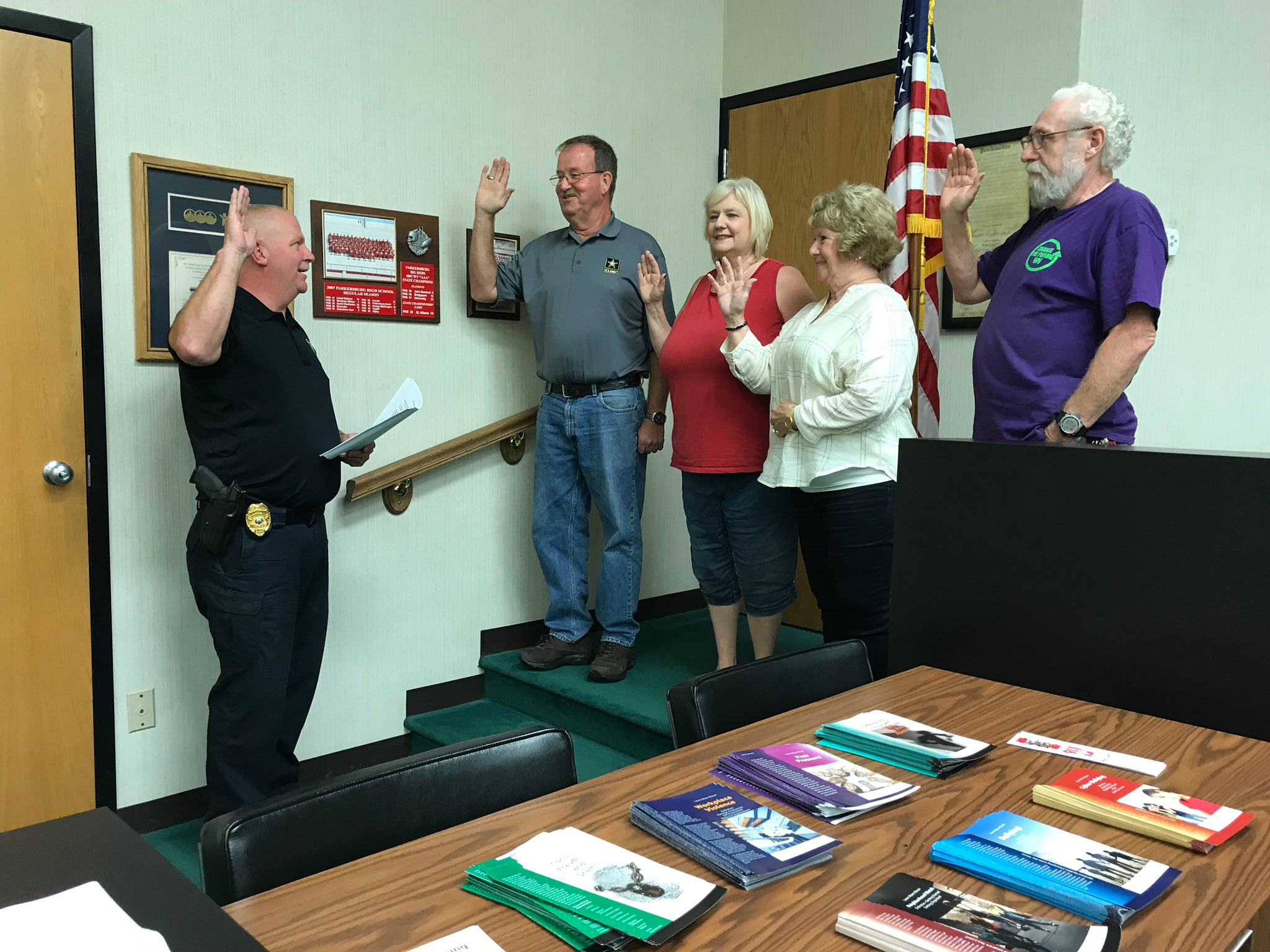 2018 Officers being sworn in